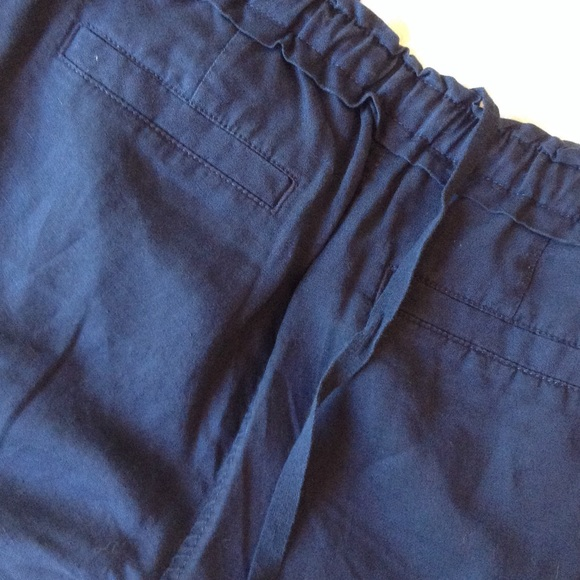 58 Off Lou Amp Grey Pants Loft Lou Amp Grey Navy Linen