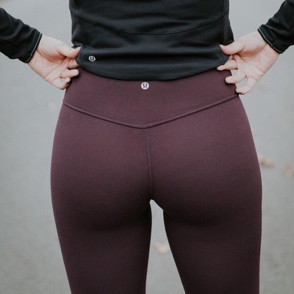 1700d896de lululemon athletica Pants | Lululemon Align Crop Black Cherry 4 ...