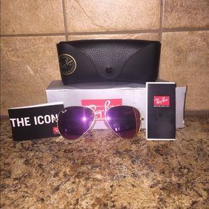 Ray-Ban Accessories - Ray-ban pink flash lenses sunglasses