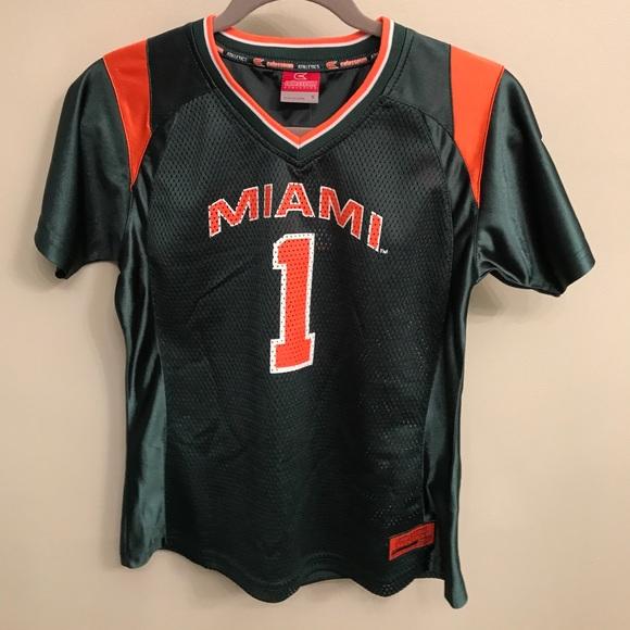 new concept 1254b c9e73 Miami Hurricane football jersey (girls)