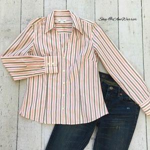 Ann Taylor Loft striped button down shirt