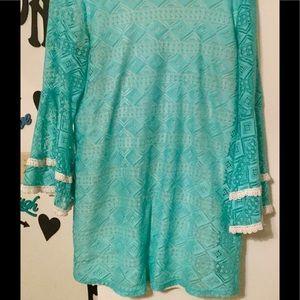 Krush Dresses & Skirts - Large KRUSH teal lace dress