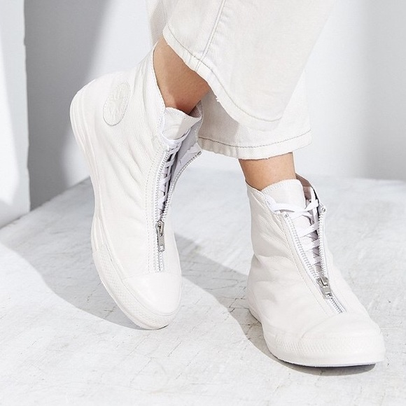 Converse Shoes | Converse Shroud White Leather Shoes All Star ...