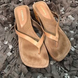 Candie's Shoes - Candies brown wooden sandals