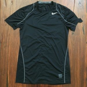 Nike Pro dry fit fitted workout shirt