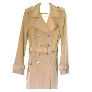 Calvin Klein, Taupe Trenched Coat