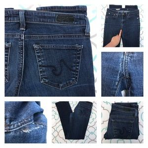 """AG Adriano Goldschmied Denim - Ripped! AG Straight Jeans 26 1/2 30"""" Need Repair!"""