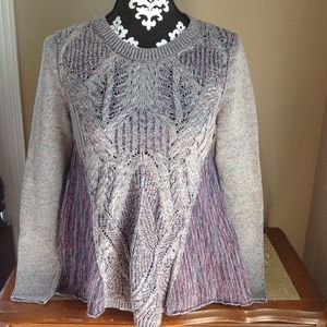 Anthropologie moth sweater multi color long sleeve