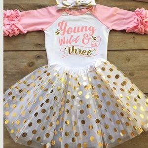 Other - 🕜🕜🕜Cute young wild and 3 bday outfit