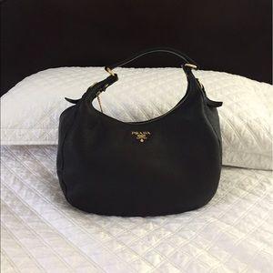Prada Vitello Daino Hobo shoulder bag