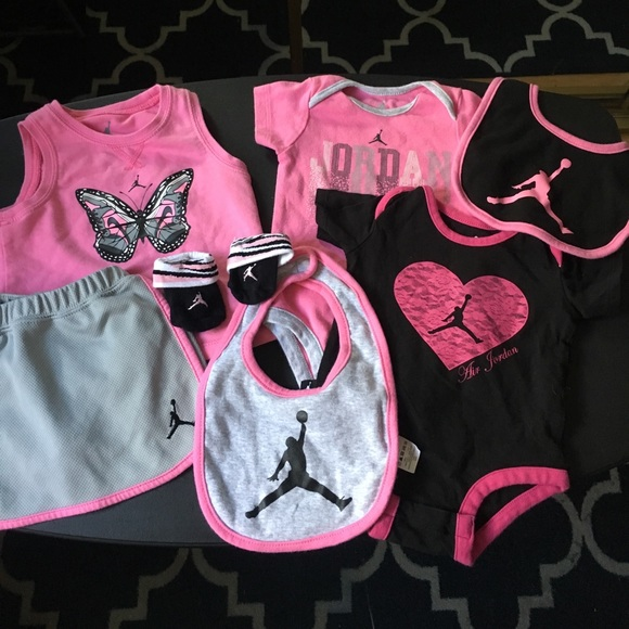 Baby Girl Jordan Clothes Adorable Jordan Shirts Tops Baby Girl Bundle Poshmark