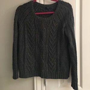 GAP grey cable knit sweater SZ S