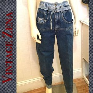 Vintage Zena Jeans Rare 1980's High Waisted Mom
