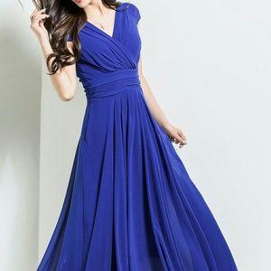 borme Dresses & Skirts - Borme Blue Maxi Dress Size Large NWT
