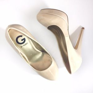 G by Guess Shoes - Guess new never worn nude round toe platform heels