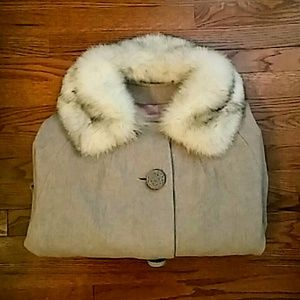 Jackets & Blazers - Vintage Fur Trench Coat
