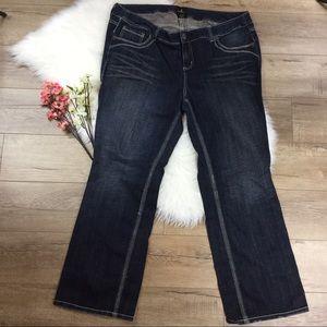 torrid Denim - Z. Cavaricci dark blue denim jeans from Torrid