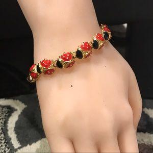 "trifari Jewelry - Trifari Lady Bug 7.5"" bracelet 🌺🌺🐞🐞"