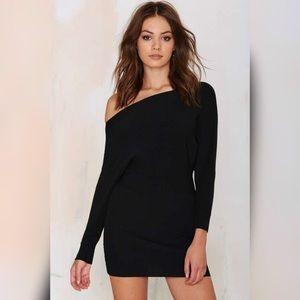 Knit Dolman Off Shoulder Dress