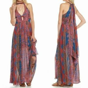 Free People Unattainable Halter Maxi Dress