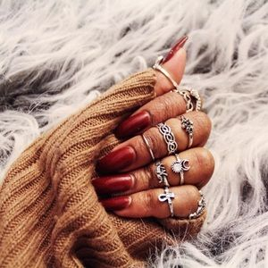 Jewelry | 10 piece silver ring set