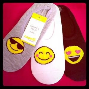 Capelli of New York Other - 🆕 Capelli Smiley Faces Sneaker Socks, 3PK