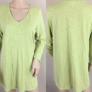 J. Jill Tops - J. Jill green long tunic dress
