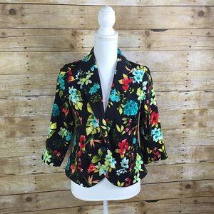 Metaphor Jackets & Blazers - Metaphor Floral 3/4 Sleeve Blazer