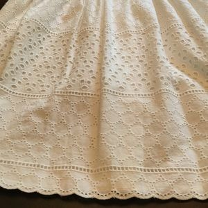 Elle Dresses - White Eyelet Dress by ELLE size 8