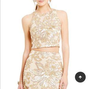 Dresses & Skirts - Belle Bartley Mischka Floral Sequin Two Piece