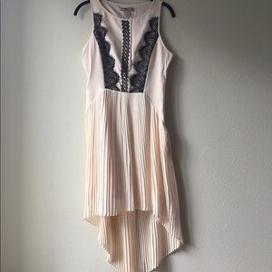 FOREVER 21 Pleated High Low Dress