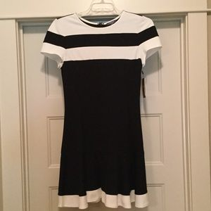 NWT Black and White Dress by Peter Som size 8.