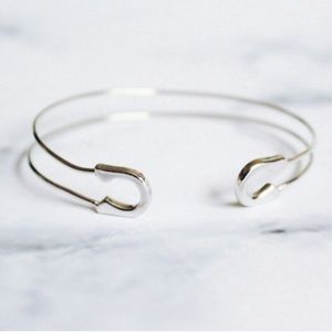 Karis' Kloset Jewelry - Jewelry | Gold delicate safety pin bracelet cuff