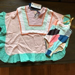 Pink Chicken Other - Pink Chicken Swimsuit and Coverup 2T/3