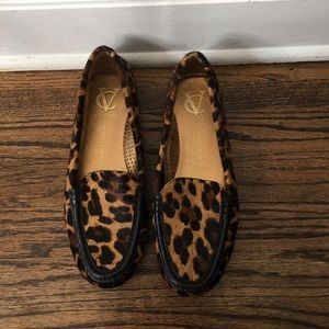 Vince Camuto Signature leopard loafers
