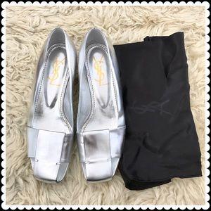 Yves Saint Laurent Shoes - YSL silver pump