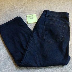 Ann Taylor LOFT 12 curvy crop Capri denim jeans 10