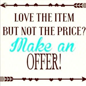 Make an offer on any closet item!