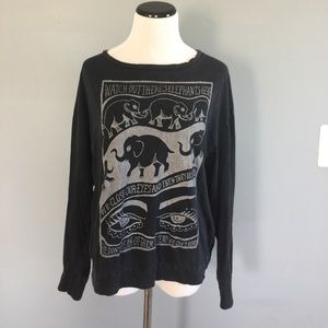 Brandy Melville elephant long sleeve top