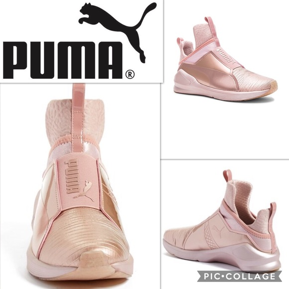9a668010d09f Puma Fierce Metallic High Tops  rose gold  sz 8. M 591a1bbdc284567d20136592
