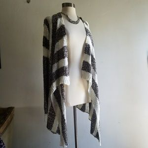 Andree Sweaters - Asymmetric Oversized Embroidered Cardigan