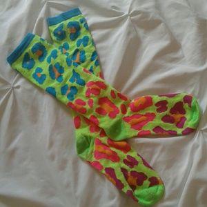 Accessories - $2 Bundled Neon Leopard Socks