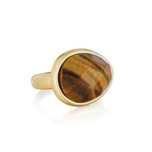 Chloe + Isabel Jewelry - C+I Minaret Faceted Tiger Eye Ring size 8 EUC
