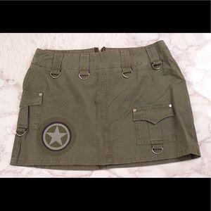 Hot Topic Dresses & Skirts - Hot Topic army green mini skirt