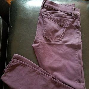 EXPRESS plum skinny jeans