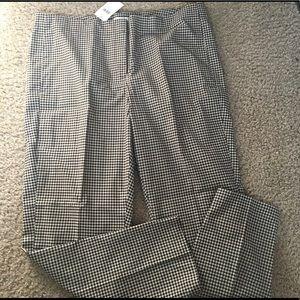 J. Jill Pants - NWT J. Jill Checkered Cropped  Trousers