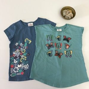 Hanna Andersson Other - 2 Hanna Andersson blue graphic t-shirts girls 110