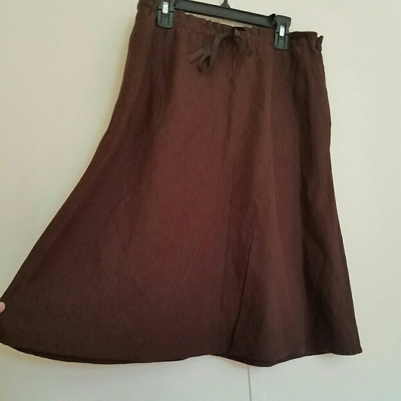 86 h m dresses skirts h m brown boho linen midi