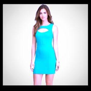 Bebe green cut out ponte dress Medium