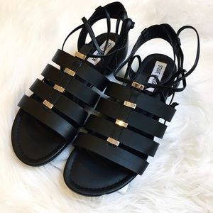 Steve Madden Shoes - Steve Madden 'Carrrter' Black Lace Up Sandals